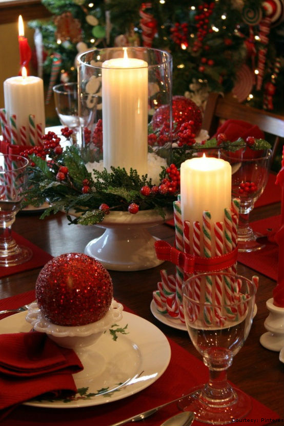 Christmas Table Decorations Candy Cane