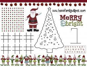 Activity Christmas Free Game Print