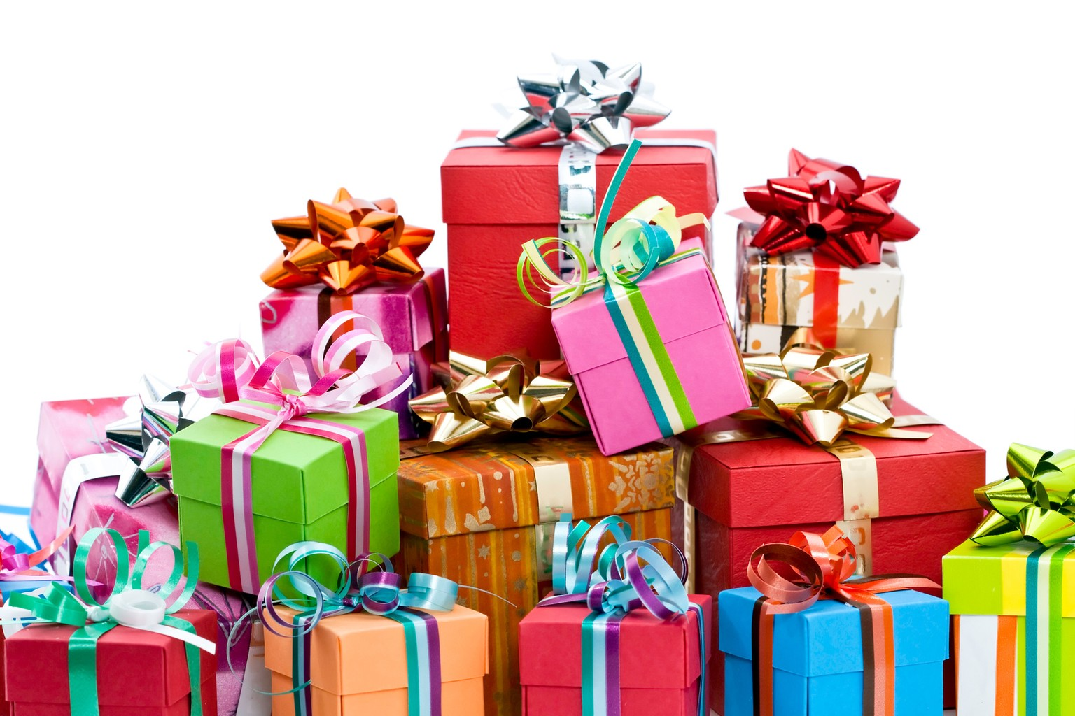 Фото с изображением подарков