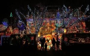 Houses with Christmas Light Displays