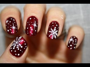 Christmas Nails Snow Flakes