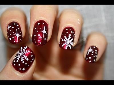 Christmas Nails Snow Flakes