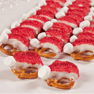 Santa Hat Pretzels Recipe