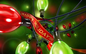 Happy Holidays Christmas Lights