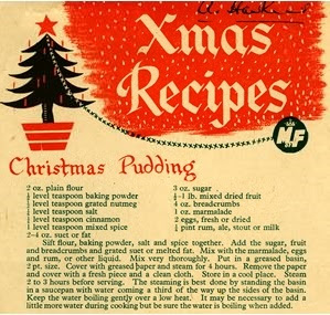 Vintage Christmas Pudding Recipe