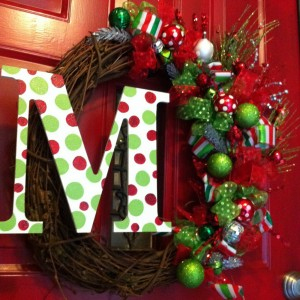 Christmas Wreath with Initial