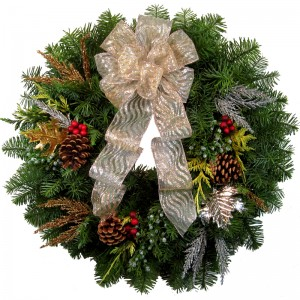 Silver Christmas Wreath