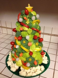 Healthy Veggie Christmas Tree