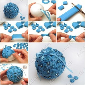 DIY Styrofoam Ball Christmas Ornament