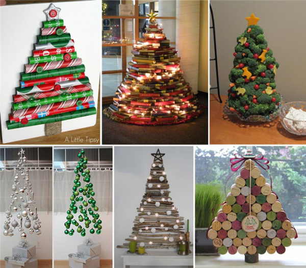 Creative diy christmas ideas xmaspin Creative christmas trees to make