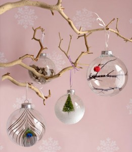 Christmas Glass Ornament Ideas