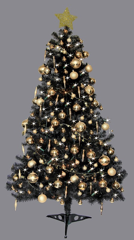 Black Christmas Tree Xmaspin