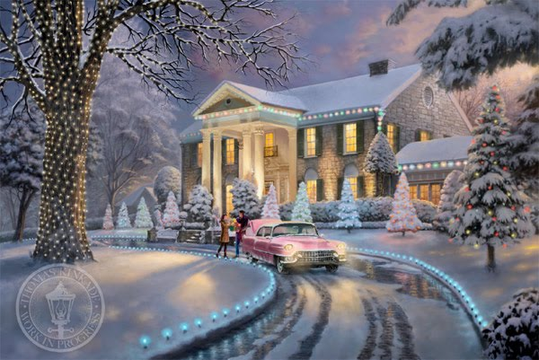 Thomas Kinkade Graceland Christmas