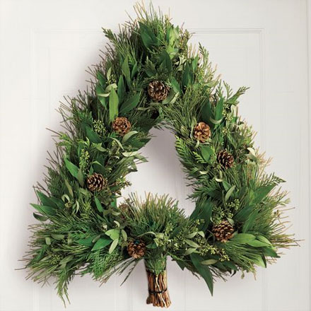 Christmas Tree Shaped Wreath
