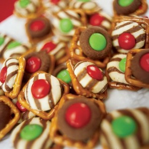 Hershey Kiss Pretzel Treats