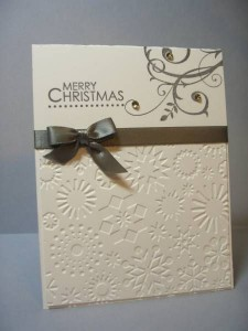Easy Christmas Card With Simple Decoration
