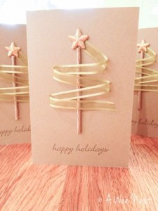 Beautiful Simple Card With Ribbon