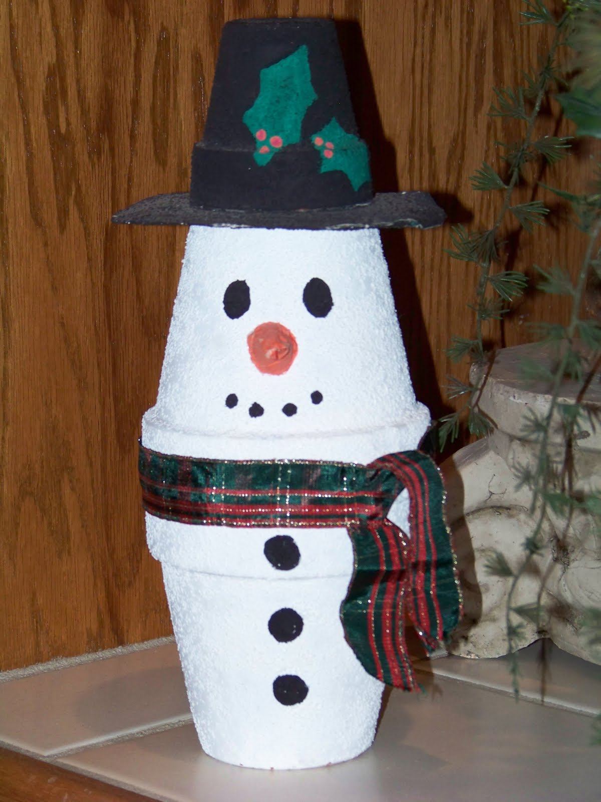 Christmasgeek Clay Pot Snowman Craft