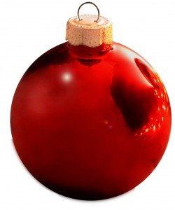 Shiny Red Christmas Ball Ornaments