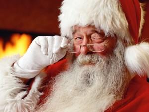 Santa Claus on Christmas Day