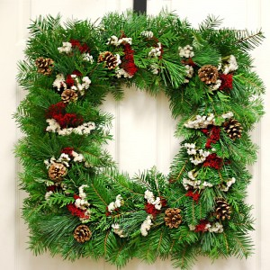 Christmas Square Wreath