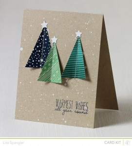 Simple Card with White Stars