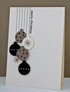 Simple Card with Colorful Ornaments