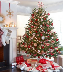 Red White Christmas Tree Decorating Ideas