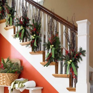 Christmas Decorations Staircase Banis
