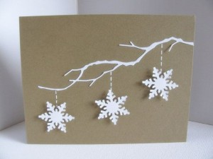 White Snowflakes Christmas Card Ideas
