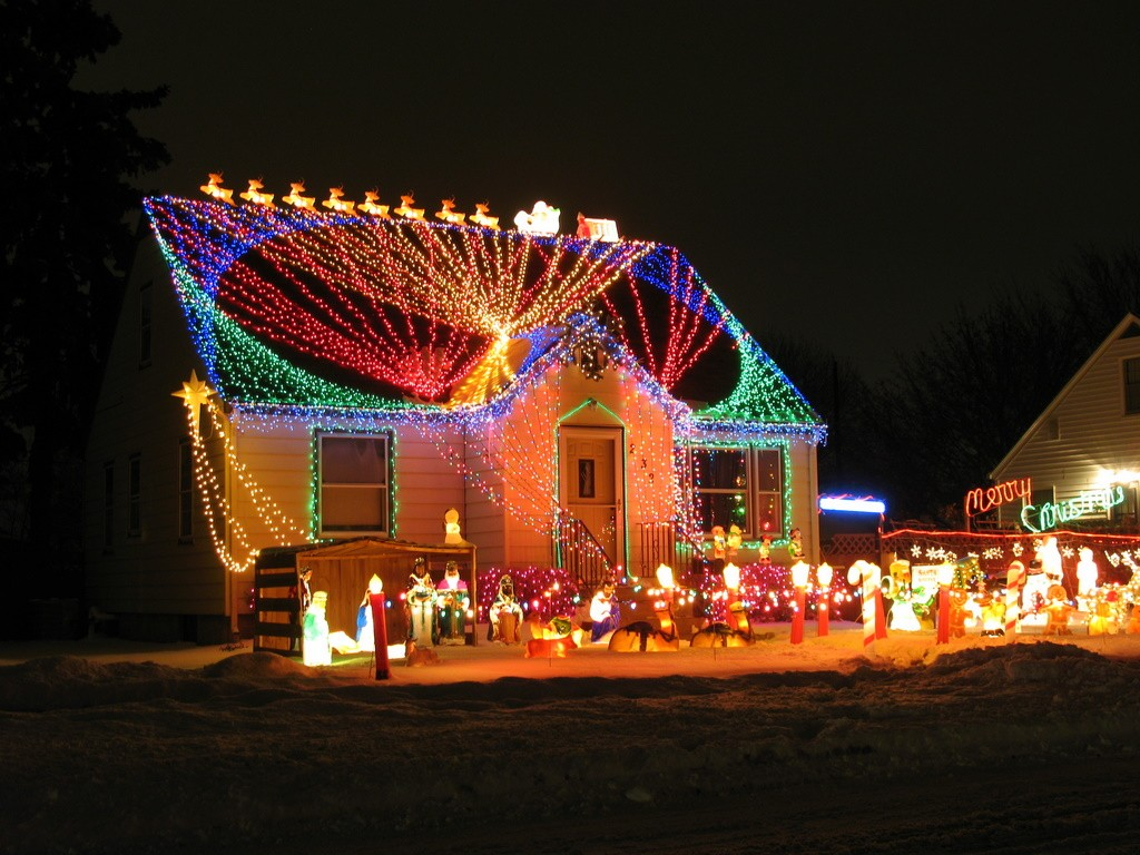 Beau Christmas Light Decorating Ideas