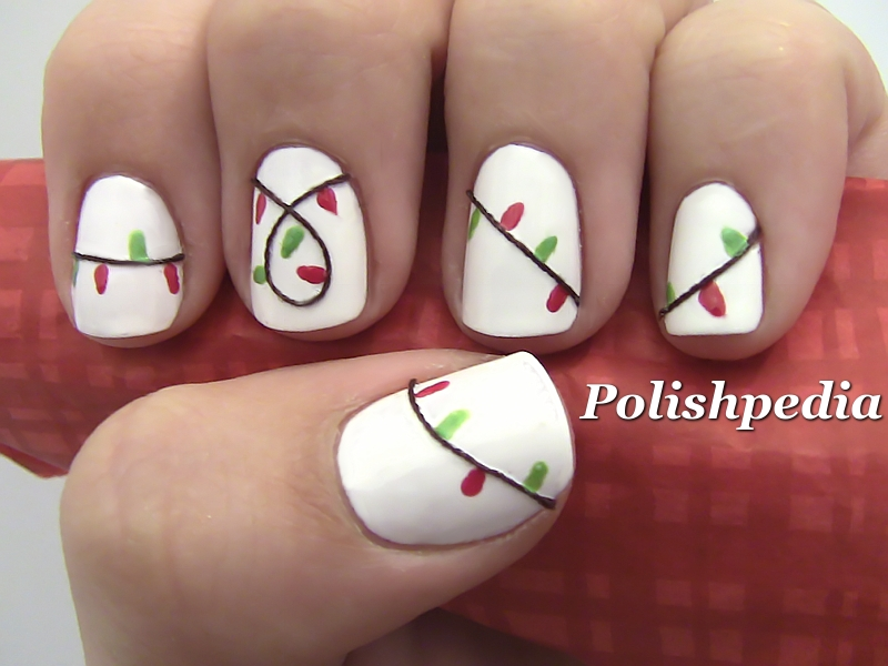 Christmas Lights Nail Art Xmaspin