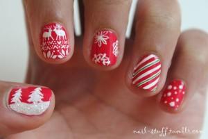 Tumblr Christmas Nails