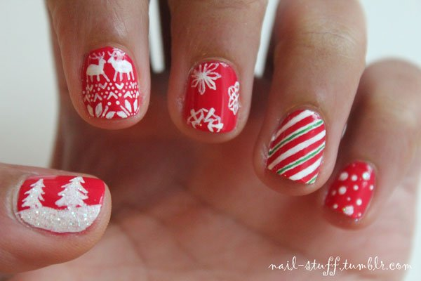 Tumblr Christmas Nails
