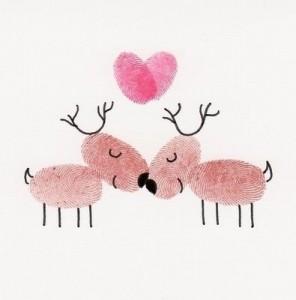 Reindeer Christmas Cards Ideas.Kissing Reindeer Card Xmaspin