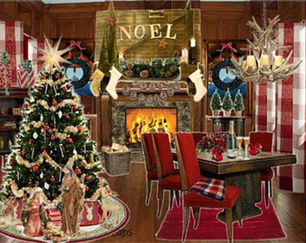 Traditional Home Christmas Decor Xmaspin